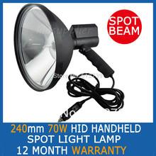 """70 W 9 """" pulgadas 240 mm HandHeld HID 9 """" Spotlight luces de conducción caza buscar 75 W(Chi"""