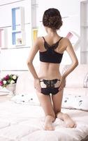 Wholesale ! Sexy Women Female Lingerie Panties Lace Bow Back Waist Comfortable Women Underwear Print Flowers Transparent