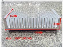 1 pcs hệ thống nhôm/150( l)*195( w)*45( h). công suất cao nhôm tản nhiệt- fan hâm mộ khuếch đại dẫn tinh khiết nhôm tản nhiệt