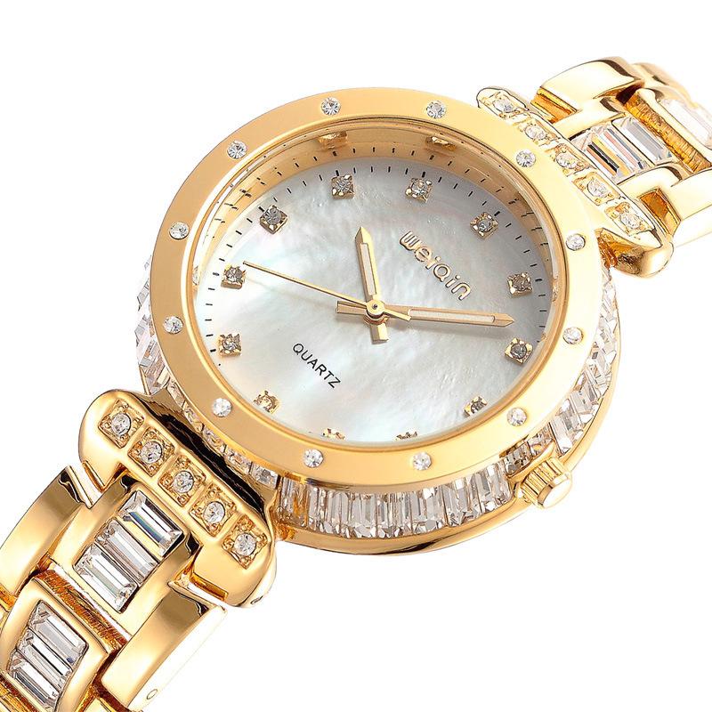 Free shipping 2013 new women stainless watch for women wenqin brand wristwatch luxury quartz dress watch top quality EMSX9007(China (Mainland))