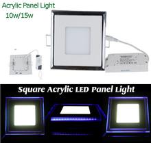 Brand New Square LED Panel Downlight 10W 15W 20W Cool White Warm White Light(China (Mainland))