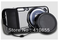 Remax Soft Silicon Back Case With Camera Protection Cap For Samsung Galaxy S4 Zoom C101, with retail Package, Freeshipping!