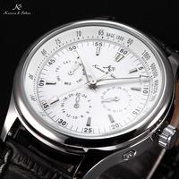 Ks Luxury Automatic Calendar Genuine Leather Strap Wrap Gift Analog Wrist Business Dress Men's Mechanical Self Wind Watch/ KS096