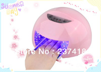 2013 Newest 12W LED Nail Polish Dryer / Lamp / Light for Curing LED Gels  pink colour