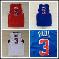 2013 Famous PG-LAC CP3 #3 Chris Paul Jersey, Top Quality Embroidery Logos Basketball Jersey Free Shipping