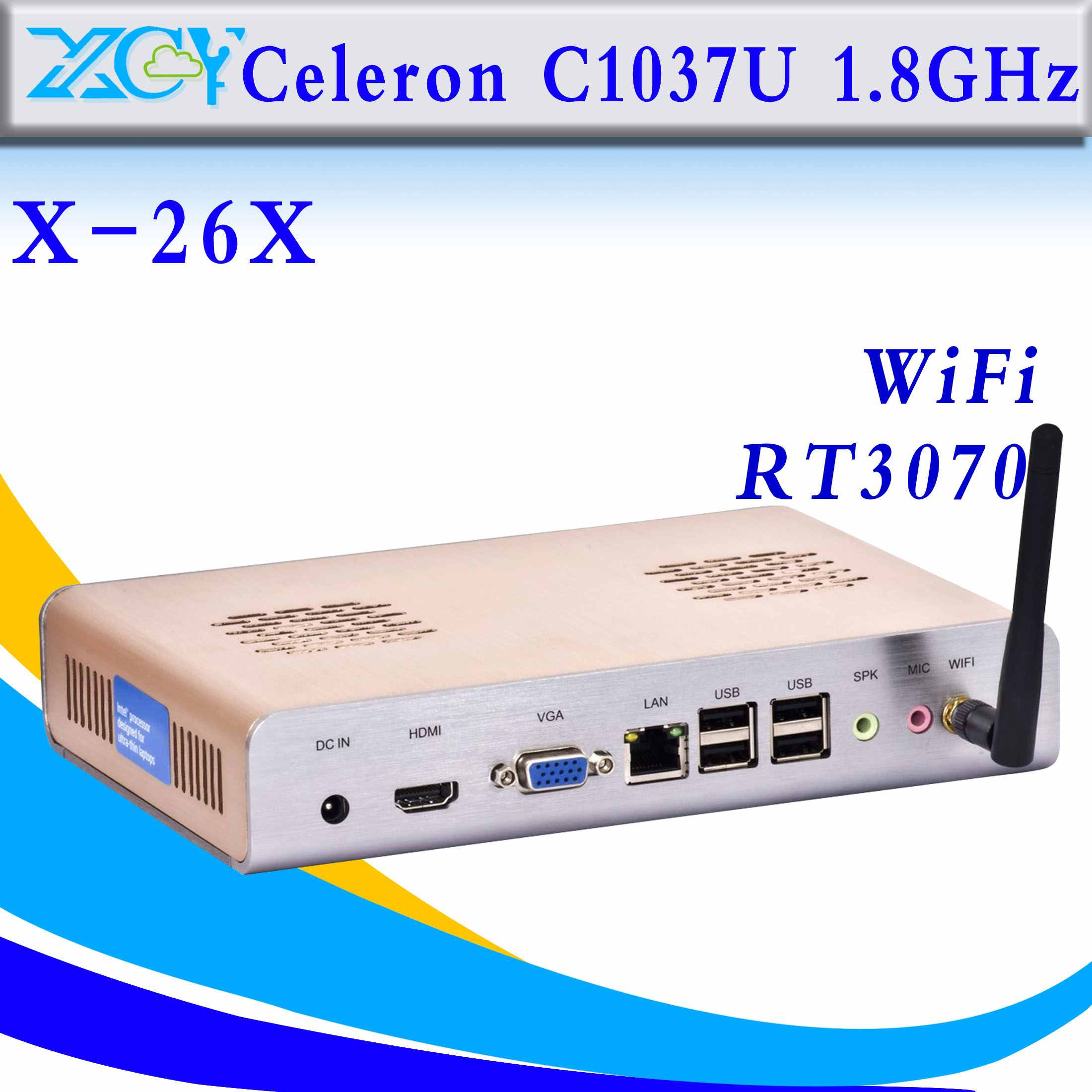 High Performance Intel C1037 Industrial computer arm embedded computers fanless industrial computer networking support HDMI(China (Mainland))