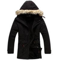 2014 winter coat men Fur Collar down jacket Hooded Parka, outdoor snowimage Warm jack,Khaki/black/army Green, Free Shipping
