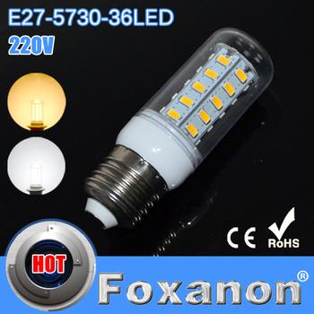 Foxanon Brand Kitchen Use 220V E27 Energy Efficient Corn Bulbs Cree 5730SMD 36LEDs Led Light  Max 12W  Lamps Lighting 2pcs/lot