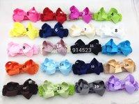 100pcs/lot 20 colors,11.5CM hair bows on the elastic headbands,hair accessories for girls headband,girl headband 2013