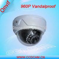 Vandalproof IR IP Dome Camera 1.3 Megapixel Low Lux IP Security Video Camera EC-IP3324