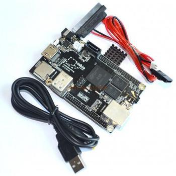 1 Set =1pcs Raspberry Pi Mini PC Cubieboard 1GB ARM Development Board Cortex-A8 + SATA Cable+ 1pcs Power Supply Wire