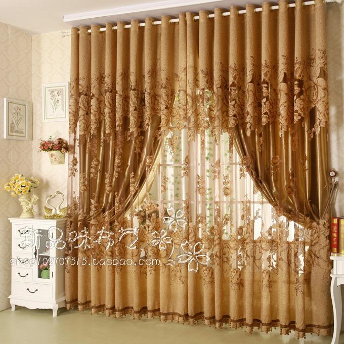 Modern Fashion High Quality Window Screening Curtain Finished Product Window Curtains Jacquard Living Room(China (Mainland))