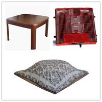 (4pcs/set )Free shipping Home Furniture Living Room Set Foot Warmer Japanese Kotatsu Table Futon for sale  ( table+heater+futon)