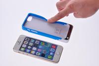2200mAh Backup Battery Charger Emergency Power Case Bank Cover for iPhone 5 5S Silicon Frame Carregador De Bateria Portatil