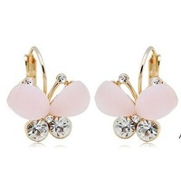 family christmas gifts fashionable butterfly shaped stud earrings for women free shipping