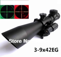 Zoom 3-9x42EG RED MICRO Laser sight scope 20mm QR H/D weaver rail red laser for gun plastic guns