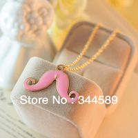 JM 1244 free shipping tredy lady Sweater Chain Korean Style Chain beard moustache Jewelry Pendant Necklace