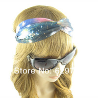 10PC/lot Multicolor Star Hair Accessory  Fashion The Kink Headwrap For Women /Girl