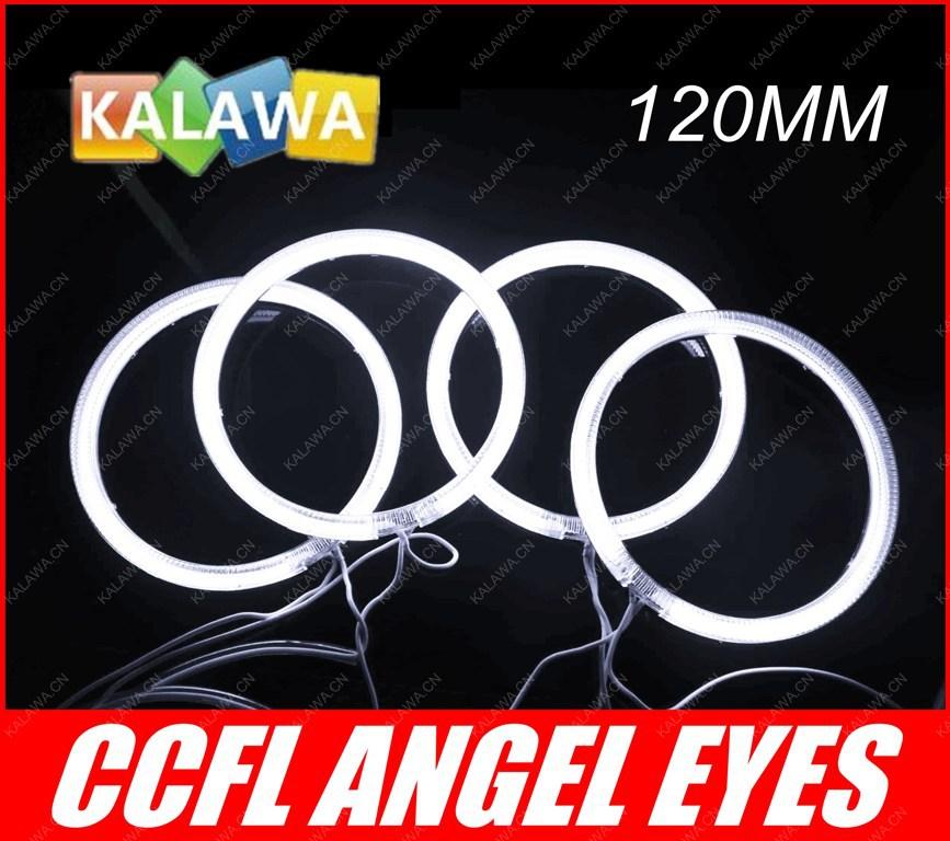 a set 120mm 12cm CCFL Angel Eyes Halo Ring Halo Light headlight fits for B.M.W E30 E32 E34 6 Colors Options GGG FREESHIPPING(China (Mainland))