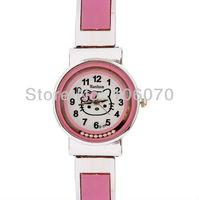 Free Drop shipping On Sale 2013 Newest Fashion Hello Kitty Children Cartoon Wrist Watches Women Brand Hashan Analog Quartz Watch