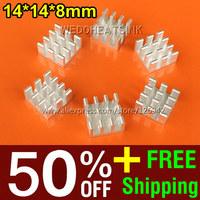 50% OFF + Free Shipping 2,000pcs 14*14*8mm Pin Fins Passive Heat Sink MOSFET Chipsink Heatsink Cooler