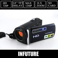 "12 MP digital video camcorder full HD 1280*720  video camera 3.0"" TFT LCD  Free shipping"
