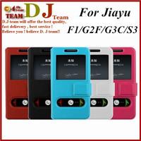 Free shipping Jiayu G3C flip Case For jiayu F1 G2F G4S G5S S3 in stock