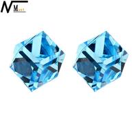 MT JEWELRY Cube Earring Crystal Casual Stud Earrings Jewelry