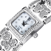 New Arrival Unique Hollow Flower Design Ladies Jewelry Wrist Watch with Czech Crystals Japan Miyota 2035 Movement 15639