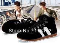 New 2013 Winter cotton-padded athletic man shoes+platform sneakers for man