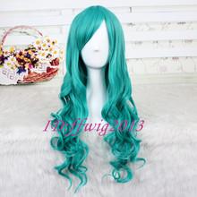 popular long blue wig