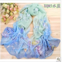2013 spring and summer sunscreen scarf, long design silk scarf, cachecol, bufanda,lenco, echarpe,