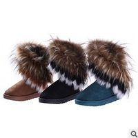 2013 the latest breathable hardy wear soft, tough, natural leather  anti-bending of elastic women's boots