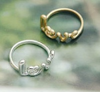JD 1102 Free shipping min. order $10 (mix order)  vintage fashion carving letter LOVE ring wedding band for women