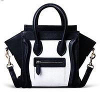 Hot Sale! Wholesale Black-and-white Smiley Bag Small Medium Bag Handbag Women's Handbag Messenger Bag New Arrival Designer