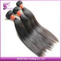 EVAS Hair Products Free Shipping Malaysian Virgin Hair Straight Human Hair Weave Mixed 4pcs/lot Malaysian Hair Bundles