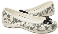 brand  crocband bowtie dress women lily hello kitty  flat brand lady dress canvas shoes