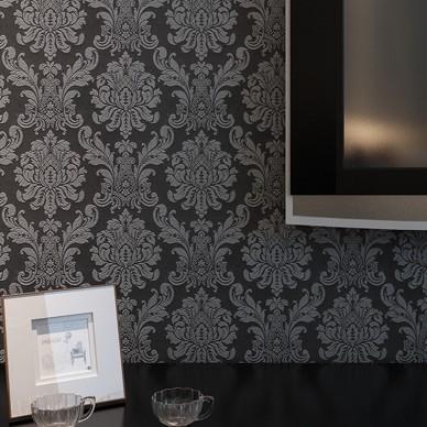 mini damask wallpaper classic wallcovering home decor
