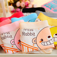 5667 Min order $10 (mix order) free shipping New style cartoon cotton female briefs animal stripe lovely sexy girl's panties