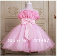 retail girls princess beautiful dress , flower dress, evening clothes for 3-12 years free shipping 6897