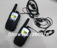 2014 New radio walkie talkie pair T388 PMR/FRS radios VOX hand-free talkie radios earphones w/ led flashlight + 99 private code