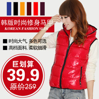 2013 vest women's fashion spring and autumn cotton down vest top outerwear winter vest