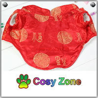 DG035 Red Tang Style Dog Costume For Happy New Year 2014,Pet Dog Clothing,Winter Dog Coat,Puppy Clothing,Free Shipping