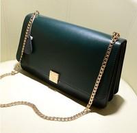 2014 New Women Leather Handbag 100%  Real Genuine Leather Chain Candy Leather Messenger Bag Totes Leather Handbay Shoulder Bag