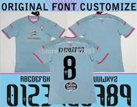 High Thailand Quality Celta VIgo Soccer Jerseys 14/15 Alex Lopez Oubina Nolito Fabian Augusto Futbol Camiseta Celta Blue Shirts