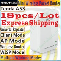Free Shipping Tenda A5S Mini Router Pocket WiFi Wireless-N AP Router Client Universal Repeater WISP 150Mbps, ethernet to WIFI
