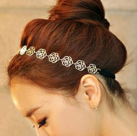 0958 Free shipping minimum order $10 (mix order) fashionable hollow metal rose hairbands headwear hair accessories for women