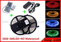 HOT!Factory direct. Festive lighting!No Waterproof 2X5M SMD3528 RGB 300 LED Strips Light +44 Key IR+12V 5A Power.free shipping!