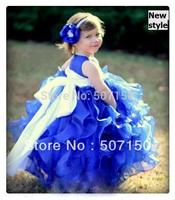 2014 New,Children dresses,Flower girl dress Kids princess dress Baby formal dress Wedding Pageant Party dress 2--8 year