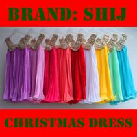 new 2013 2014 brief gold collar chiffon girls' dresses Free shipping (5pcs/lot) wholesale shij